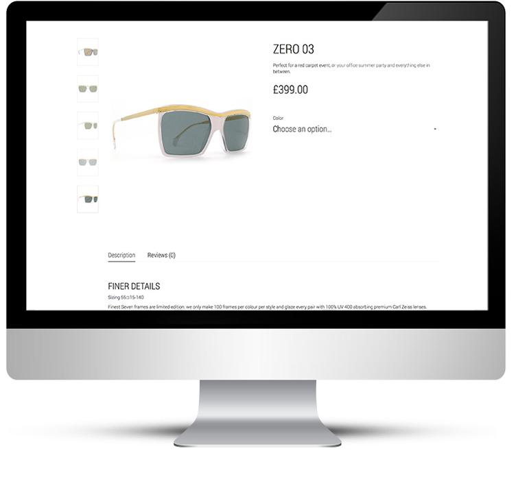 WordPress Design for sunglasses designer in London