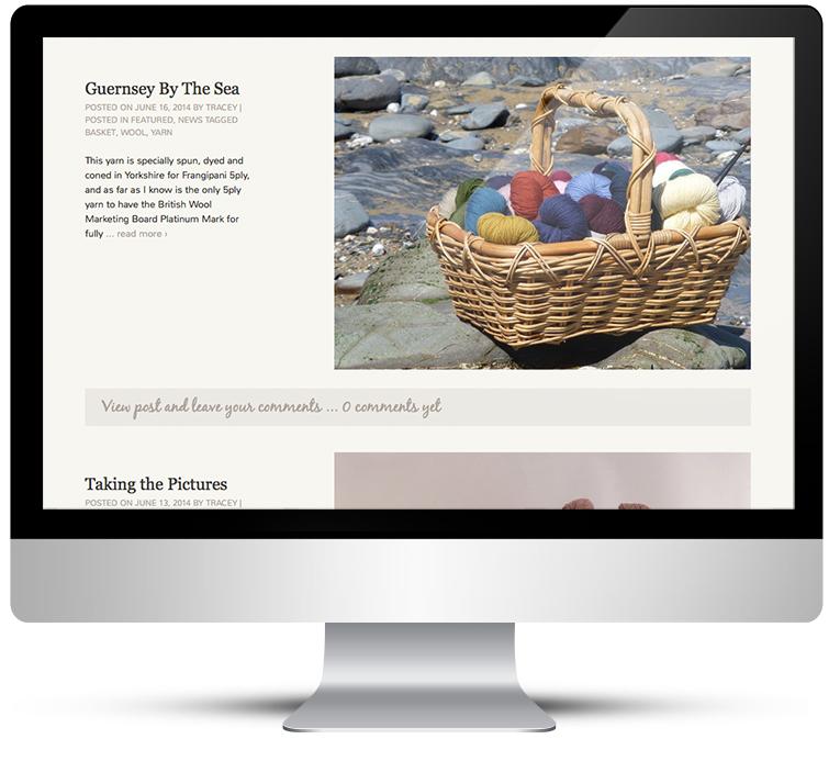 Gorgeous Yarns cutom WordPress Design