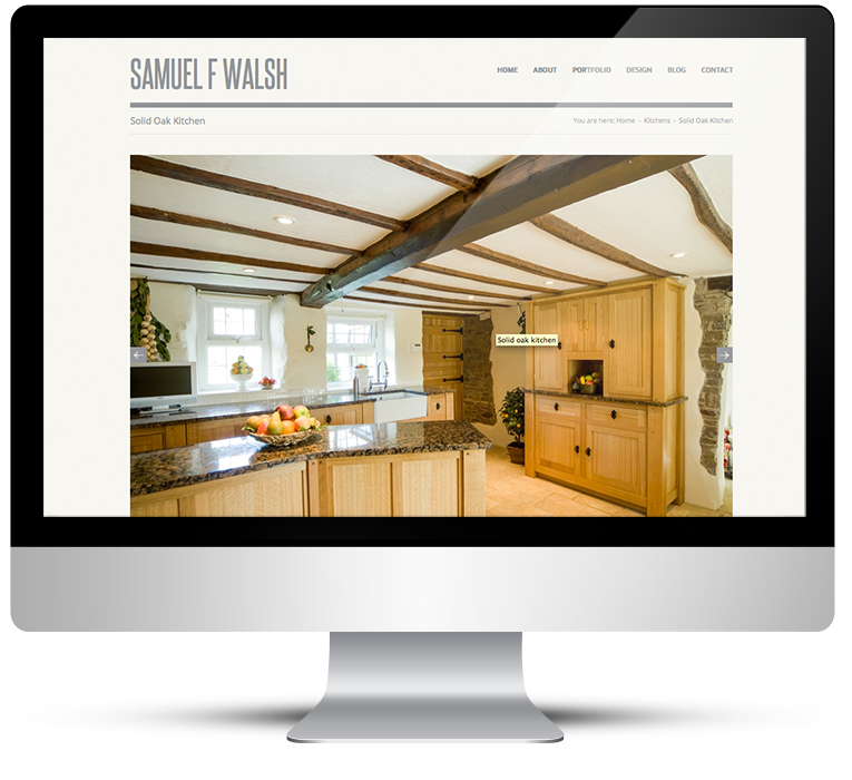 WordPress custom design for Kitchen Designer