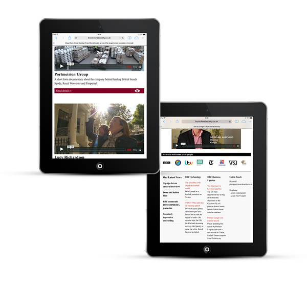 Mobile responsive web design, iPad
