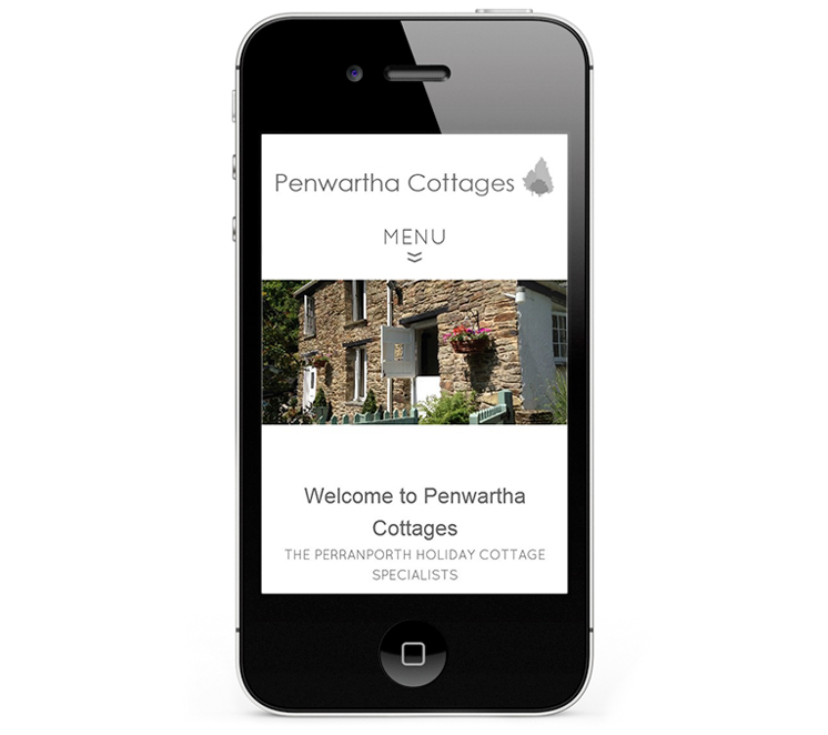 Mobile web design, iPhone for Penwartha Cottages