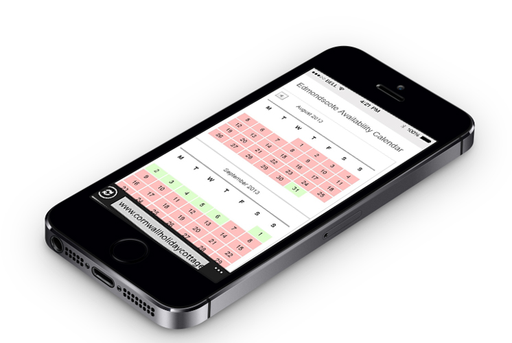 WordPress design for mobile, Penwartha Cottages