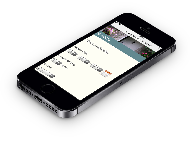 Web design iPhone view - WordPress designer Stratford