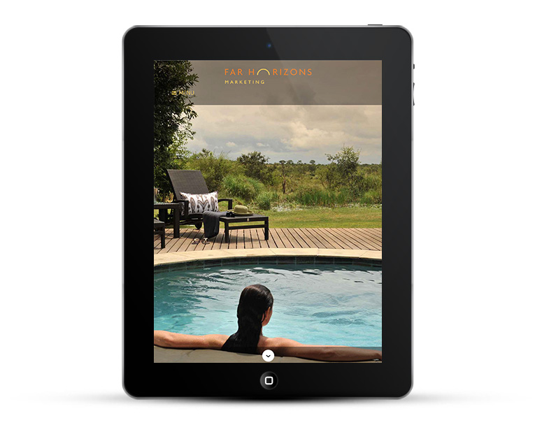 Mobile responsive web design for iPad and tablet