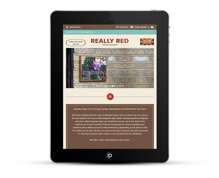 Mobile responsive design for iPads - Really Red