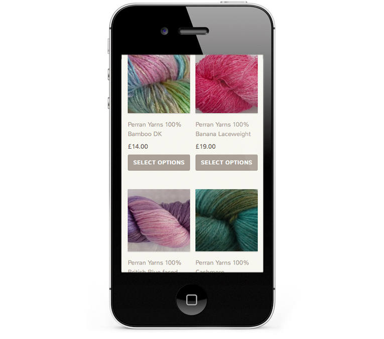 Responsive web design iPhone view