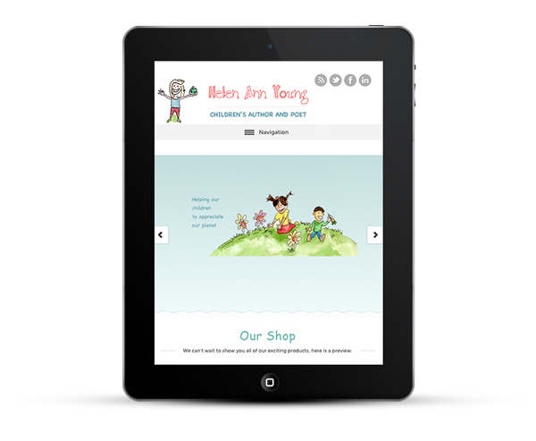Mobile Responsive Design iPad view for Helen Ann Young