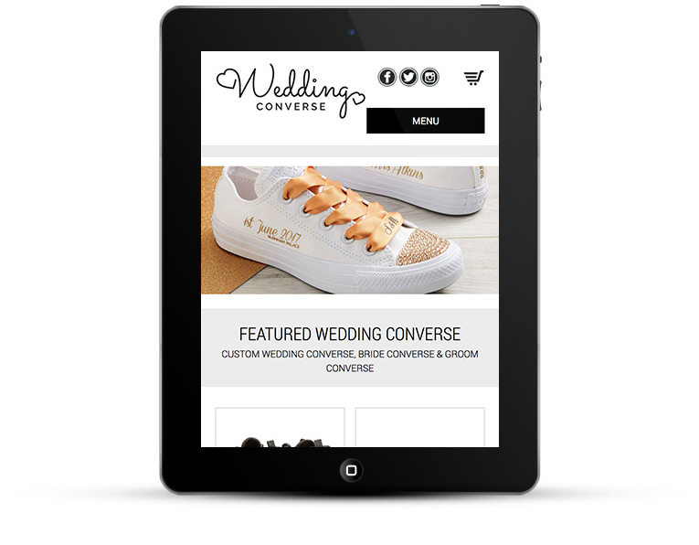 Wedding Converse eCommerce for iPads