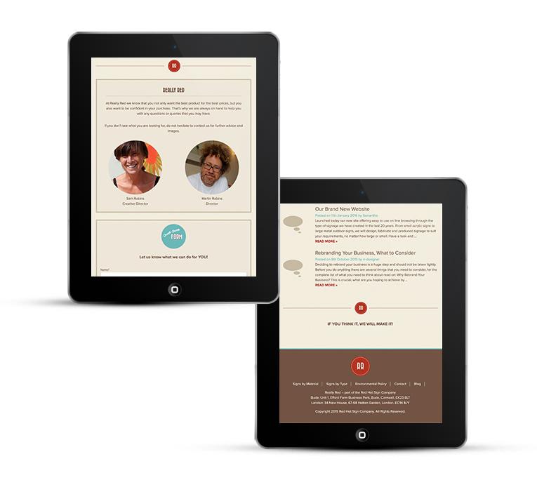 Really Red by Freelance web designer Stratford upon Avon