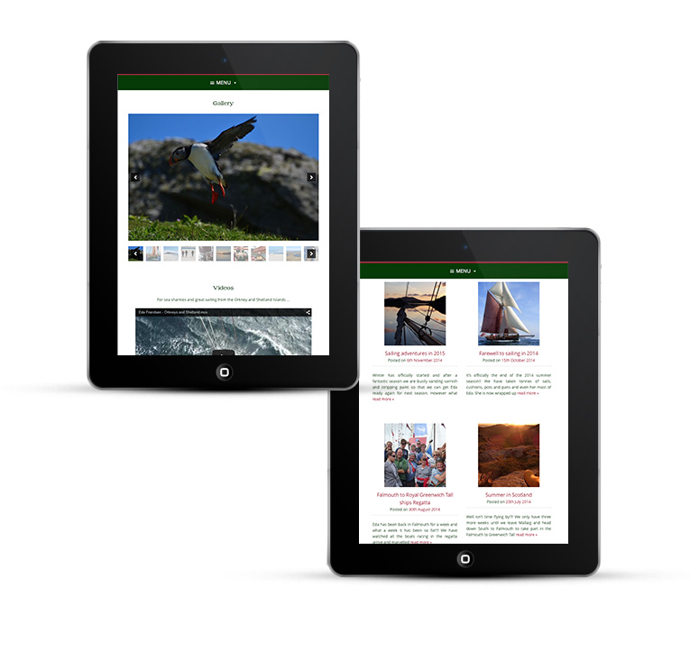 WordPress design for iPads and Tablets