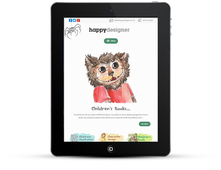 Mobile responsive web design iPad