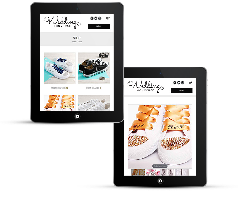 Wedding Converse eCommerce for Tablets
