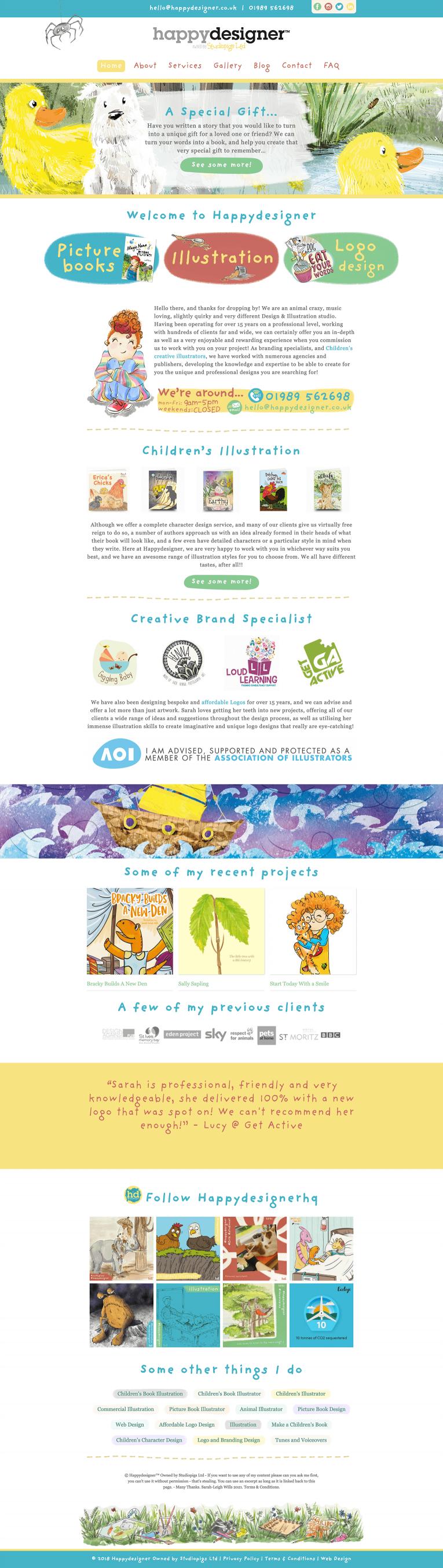 Happy Designer Home Page