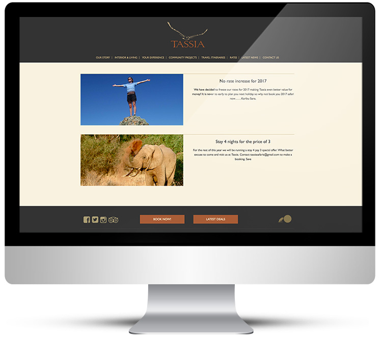 Tassia Safaris by Freelance Web Designer Stratford upon Avon
