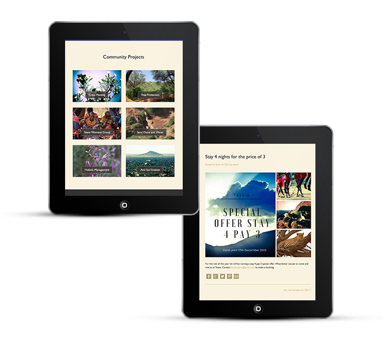 WordPress Design for Tassia Safaris