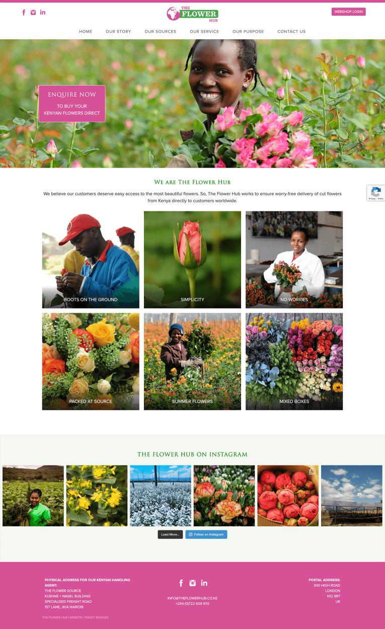 The Flower Hub Web Design