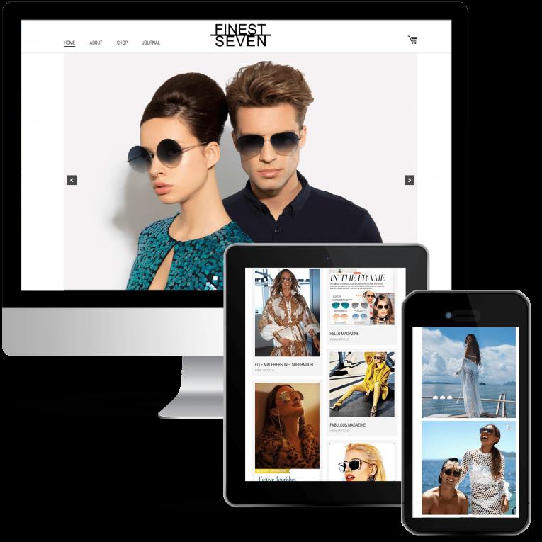 Web Design for Designer Sunglasses Store
