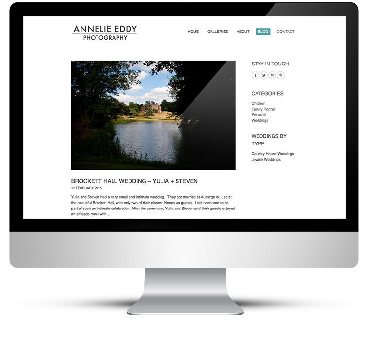 WordPress Custom Theme Design for London Wedding Photographer