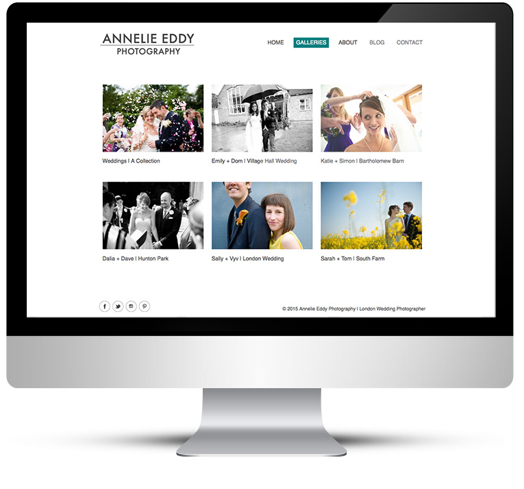 Wedding Photography website design, Freelance web designer