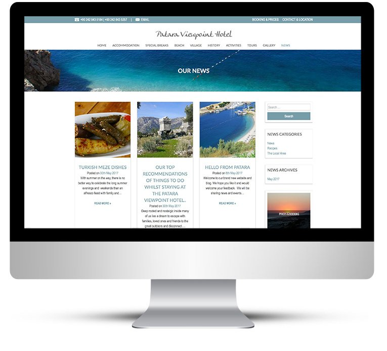 Web design Patara Viewpoint Desktop View