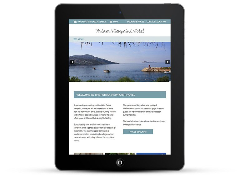 Mobile responsive design iPad view