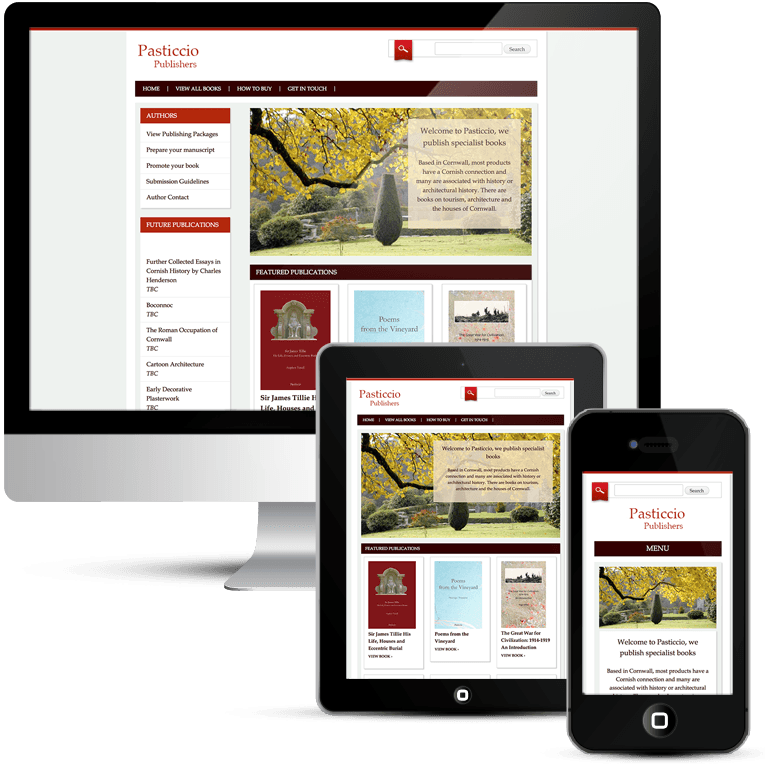 Web Design for Pasticcio Publishing