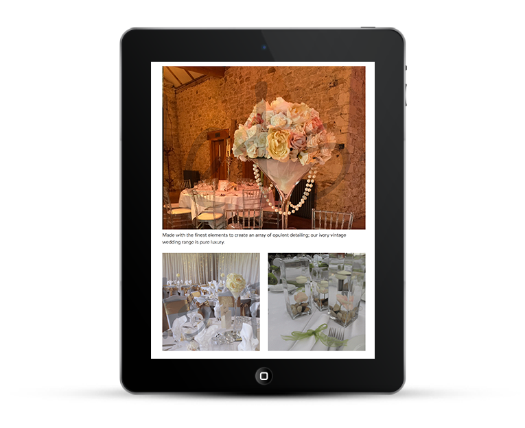Responsive web design, So Lets Party, iPad view