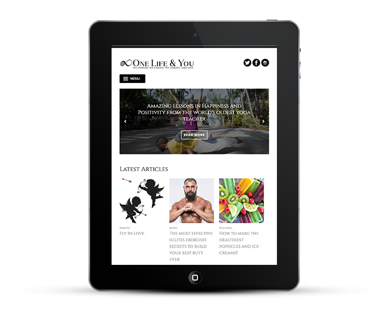 Responsive web design, iPads and tablets, One life and you