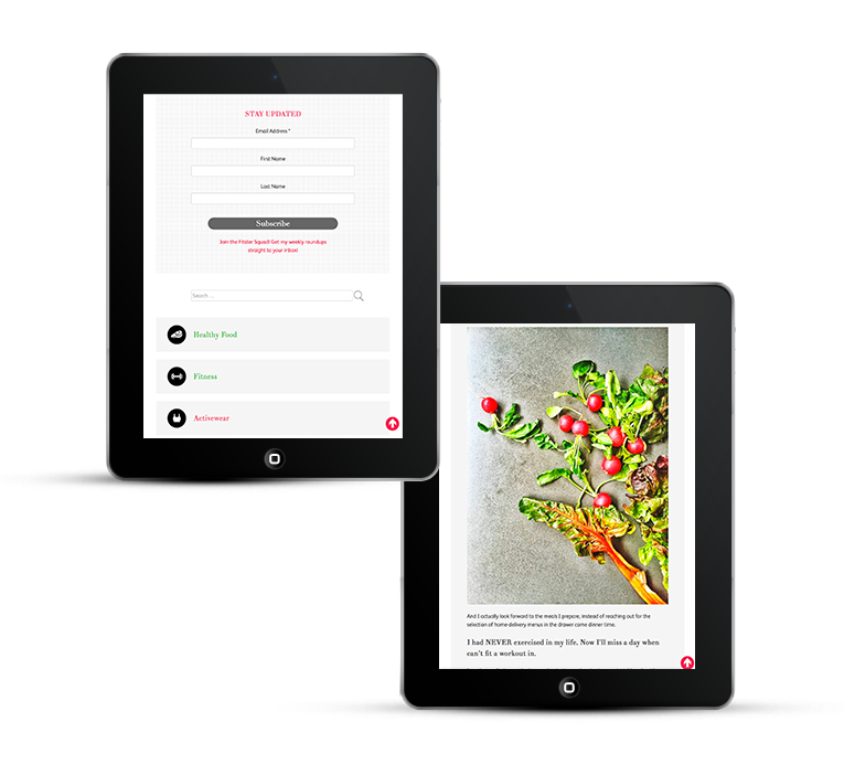 Mobile responsive design, iPad view lifestyle blog