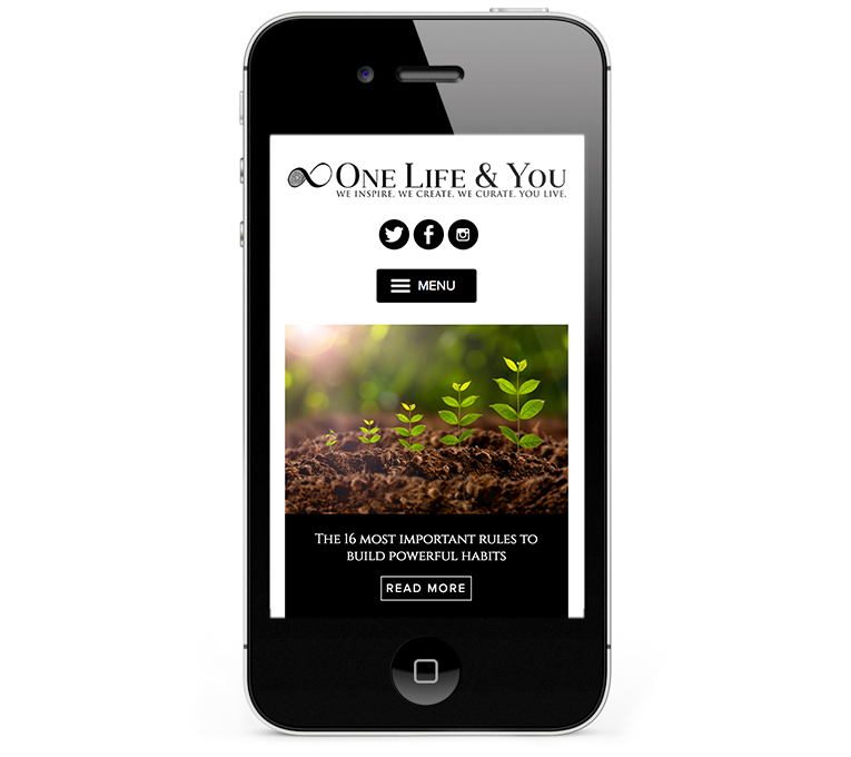 WordPress responsive web design, iPhone, One Life & You