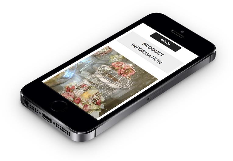 Beautiful iPhone responsive web design. WordPress Designer.