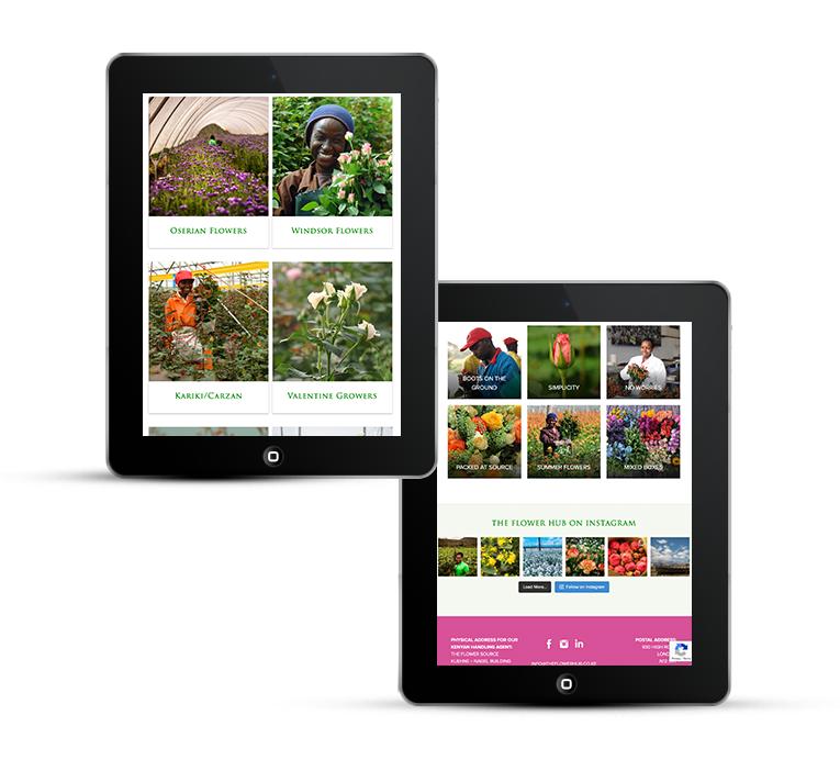 Responsive Web Design for International Flower Distributer
