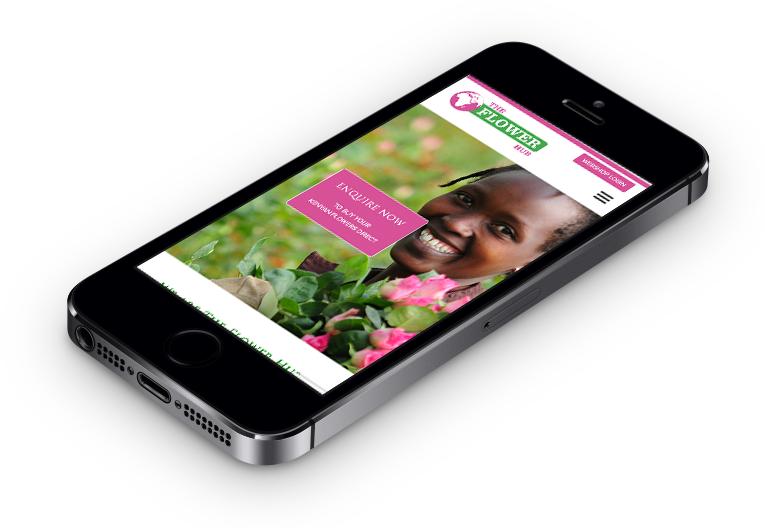 The Flower Hub Smartphone web design