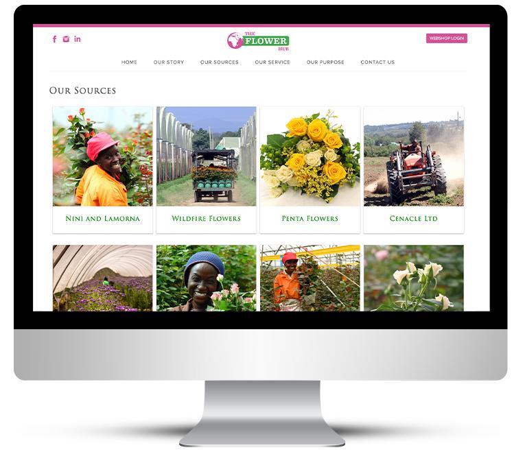 The Flower Hub by Dorset Web Design