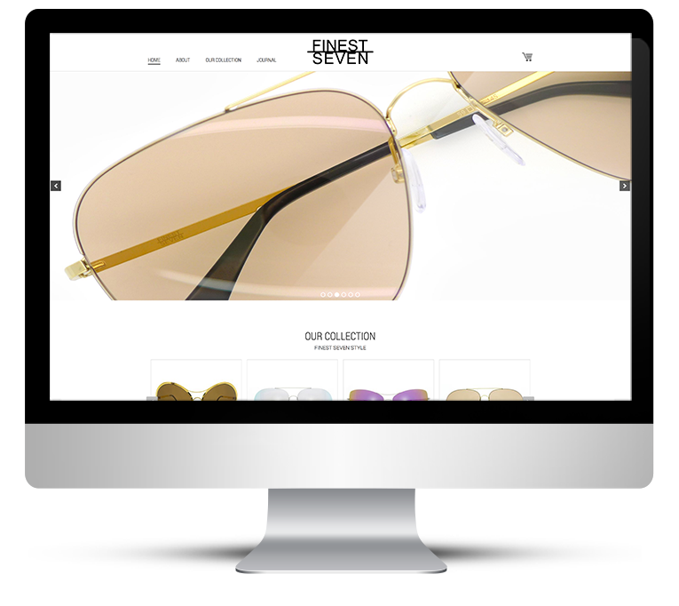 eCommerce online store – designer sunglasses