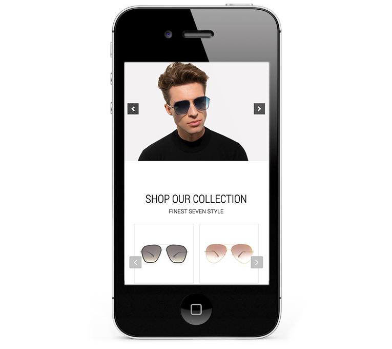 eCommerce website design for Sunglasses Manufacturer