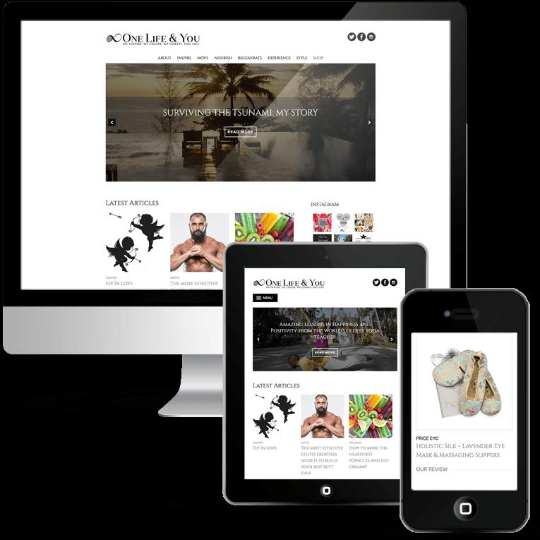One Life & You WordPress design