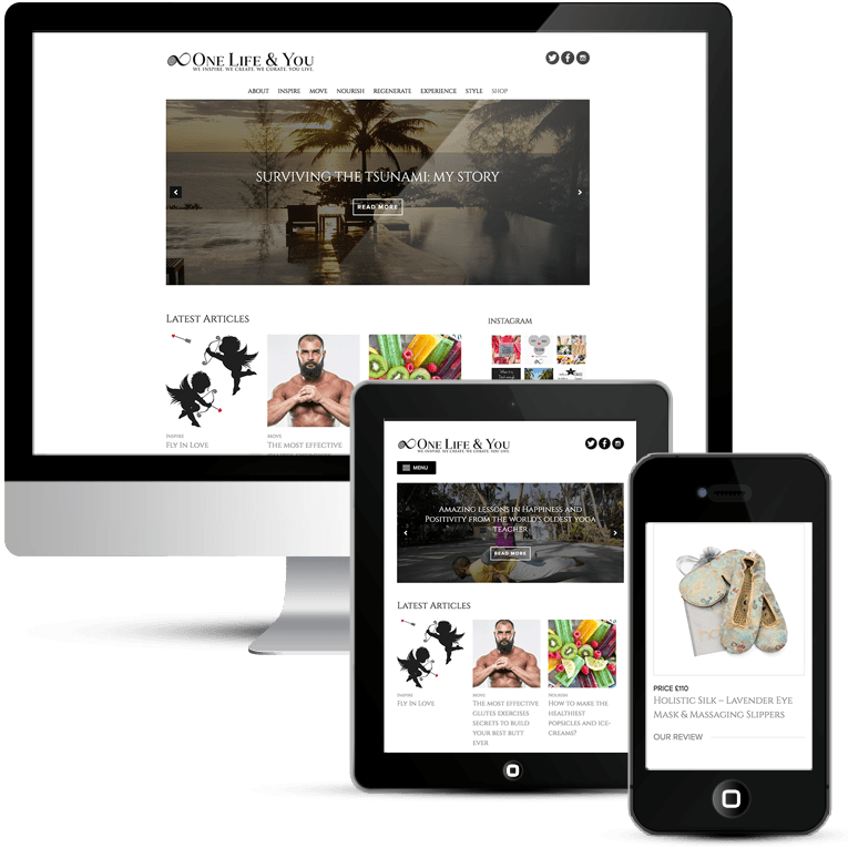 One Life & You WordPress design