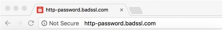 Google not secure warning