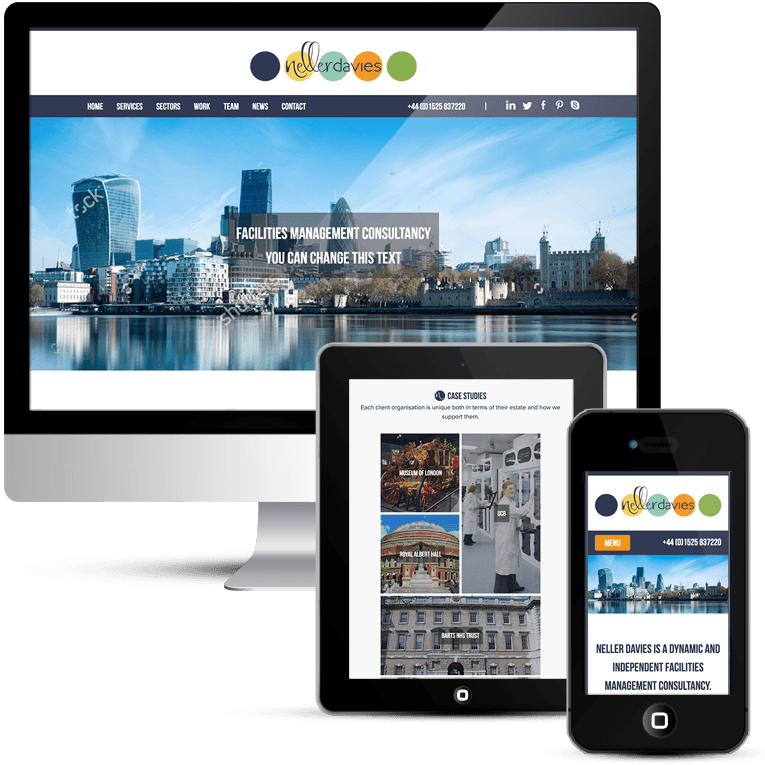 Freelance responsive web design for facilities management company