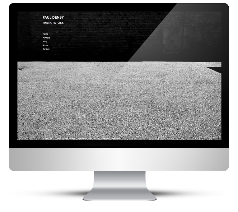 Ultra clean, contemporary web design for photographer portfolio