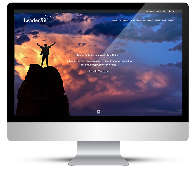 Freelance web design for Leader Be Consulting
