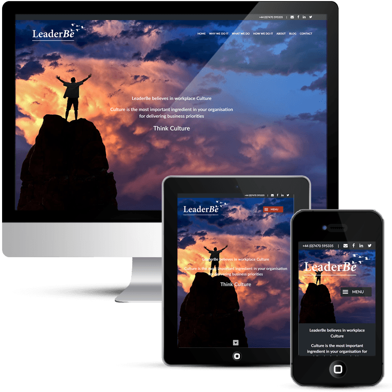 LeaderBe Consulting home page design