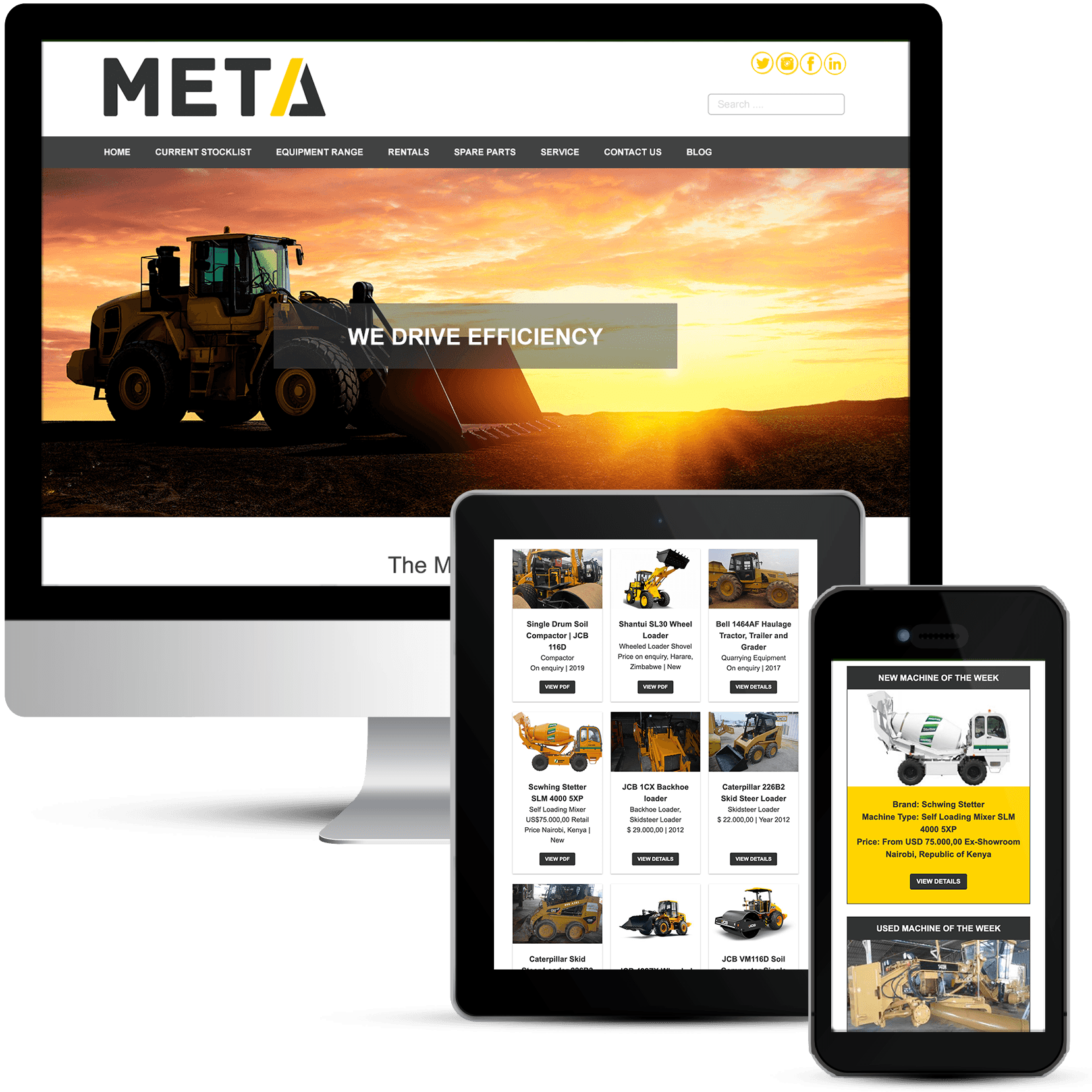 META Group Africa Machinery Sales Web Design