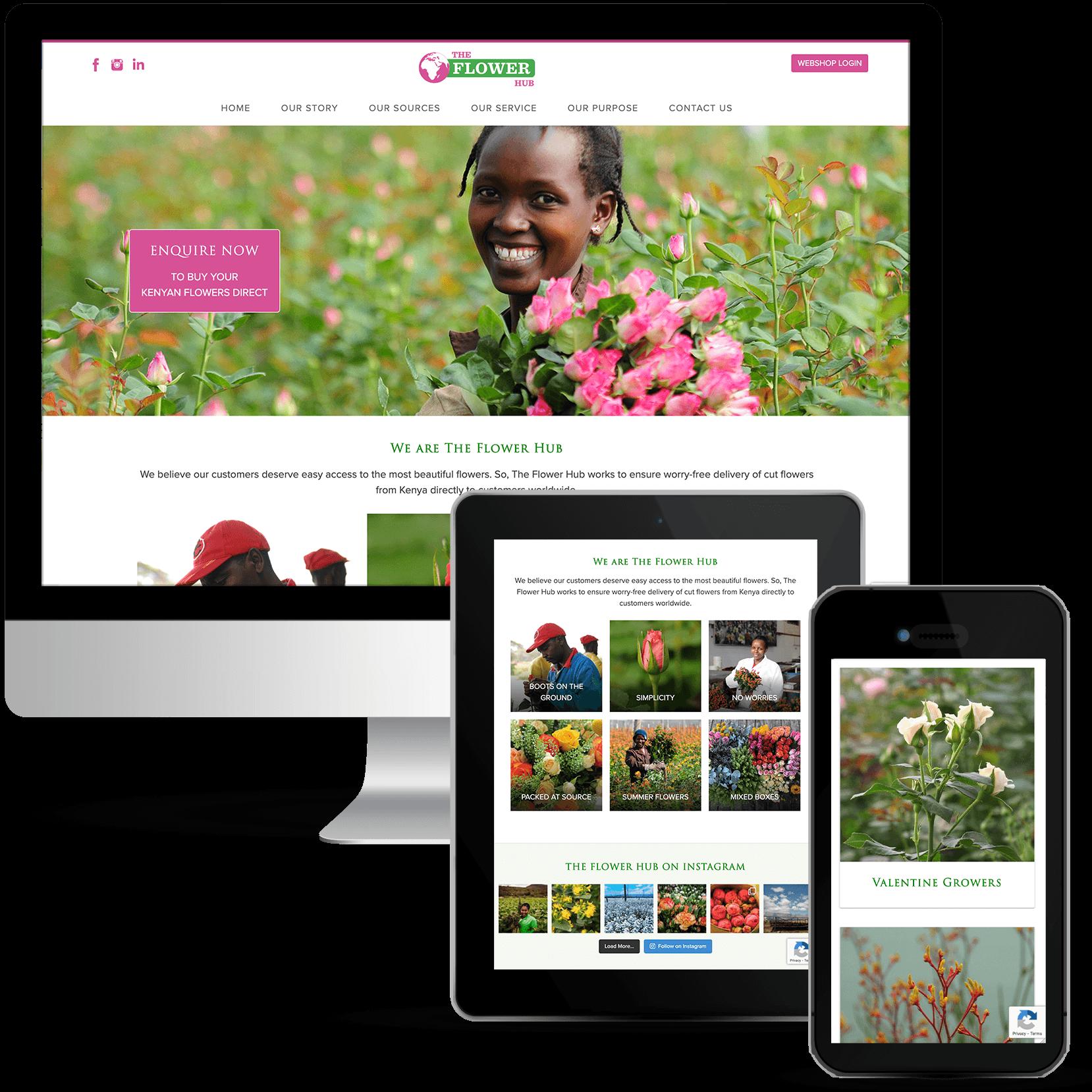 The Flower Hub by Web Designer Dorset