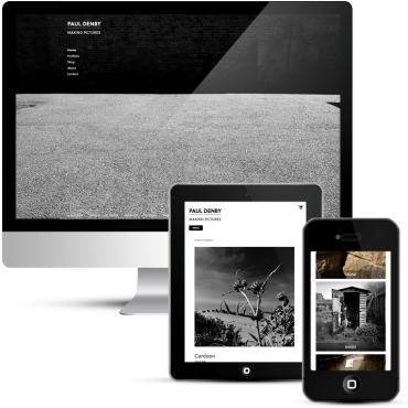 Freelance minimalist web design for a photographer