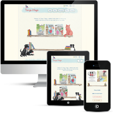 Freelance web design for children's author