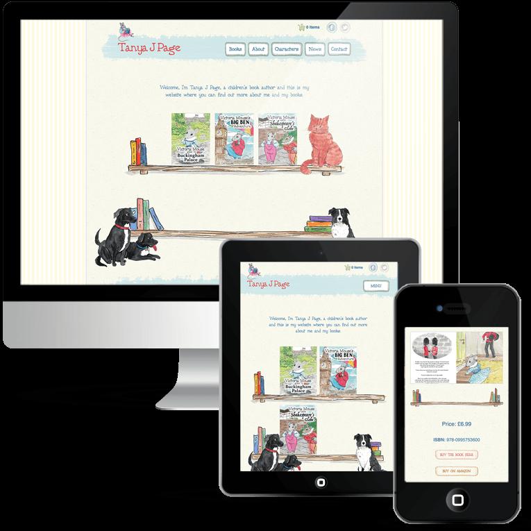 Freelance web design for children's author