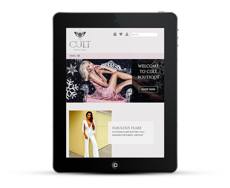 Responsive web design for Cult Boutique