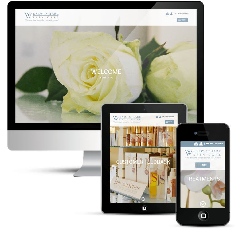 Web Design with WordPress, beauty salon and online shop